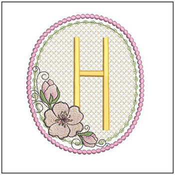 Cherry Blossom Font - H - Embroidery Design