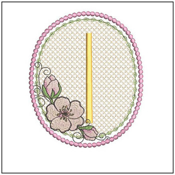 Cherry Blossom Font - I - Embroidery Design