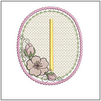 Cherry Blossom Font - I - Embroidery Design