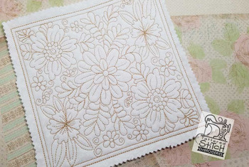 30% Off - Floral Quilt Blocks Bundle - Multiple Sizes - In the Hoop - Continuous Line - Machine Embroidery
