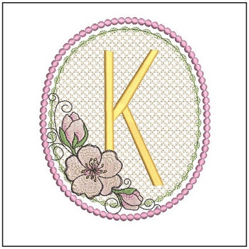 Cherry Blossom Font - K - Embroidery Design