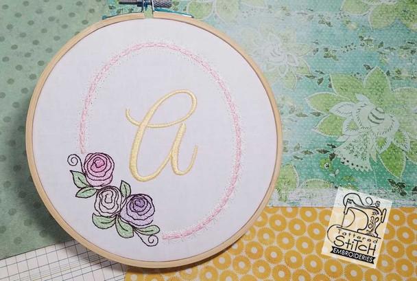 Rosabella Font ABCs - B - Embroidery Designs