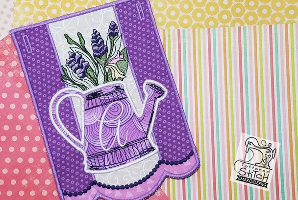 """Foxglove Script Bunting - Bundle- Letters - K-O - Fits a 5 by 7"""" Hoop - Instant Downloadable Machine Embroidery"""