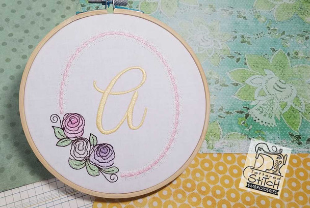 "Rosabella F - Fits into a 5x7"" Hoop - Instant Downloadable Machine EmbroideryC"