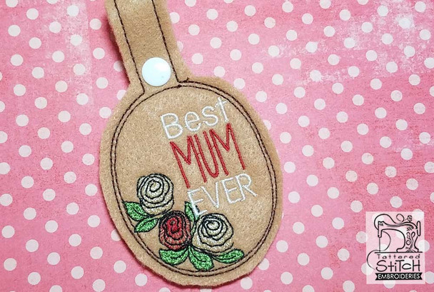 Best Mum Ever Snap Tab - Fits a 5x7