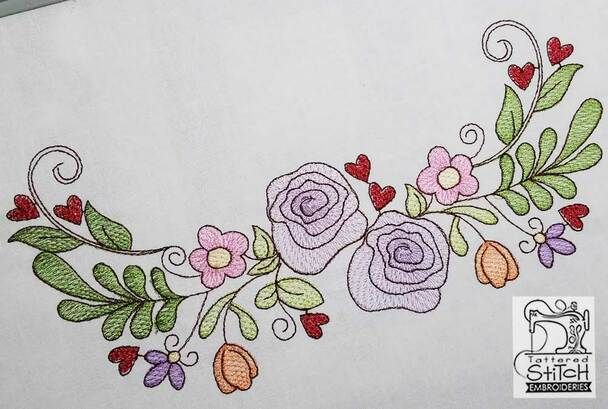 Spring Floral Swag - Fits a 5x7 _ 6x11