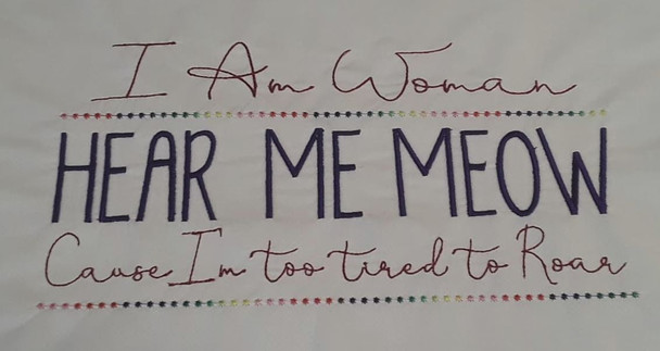 """I am Woman - Fits a 5x7 _ 6x11"""" Hoop Size - Instant Downloadable Machine Embroidery"""