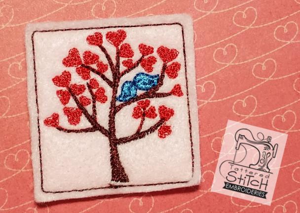 Love Birds Tree Felty - Embroidery Designs