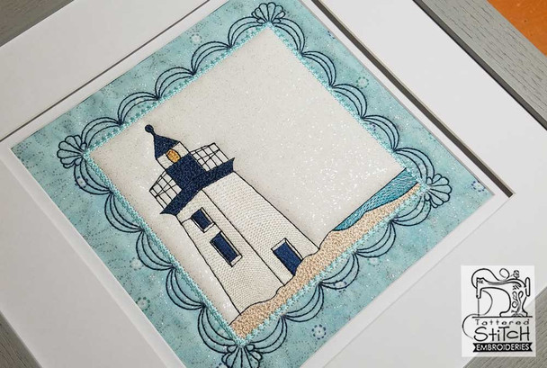 Lighthouse Quilt Block - Multiple Sizes - In the Hoop  - Instant Downloadable Machine Embroidery