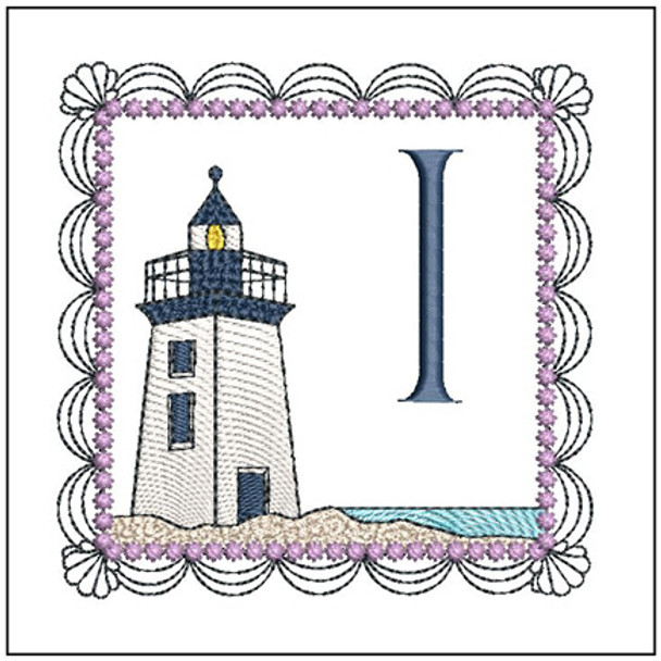 "Lighthouse ABC's - I - Fits in a 5x7"" Hoop - Applique - Instant Downloadable Machine Embroidery"
