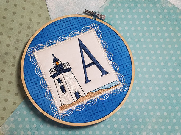 Lighthouse ABC's Applique - J - Embroidery Designs