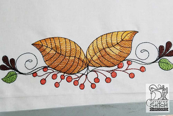Aspen Leaf Swag - Machine Embroidery Designs
