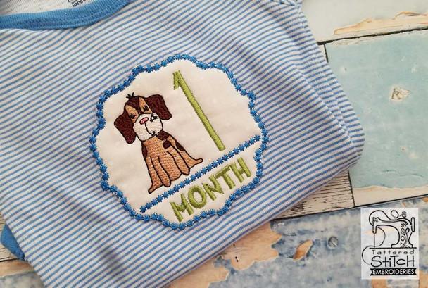 Puppy Luv - Milestones Bundle - 9-12 - Embroidery Designs