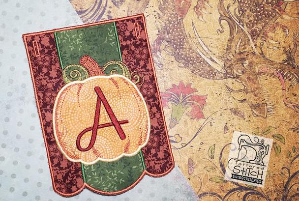 30% Off - Pumpkin Bunting Alphabet Letters Bundle - A-Z - Embroidery Designs