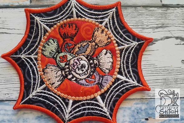 """Spiderweb Coasters Bundle - Fits in a 5x7"""" Hoop - Instant Downloadable Machine Embroidery"""