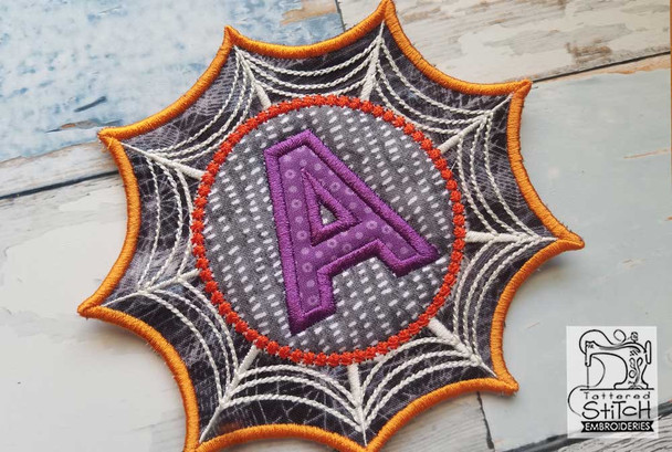 "Spiderweb ABC's - S - Fits in a 5x7"" Hoop - Instant Downloadable Machine Embroidery"