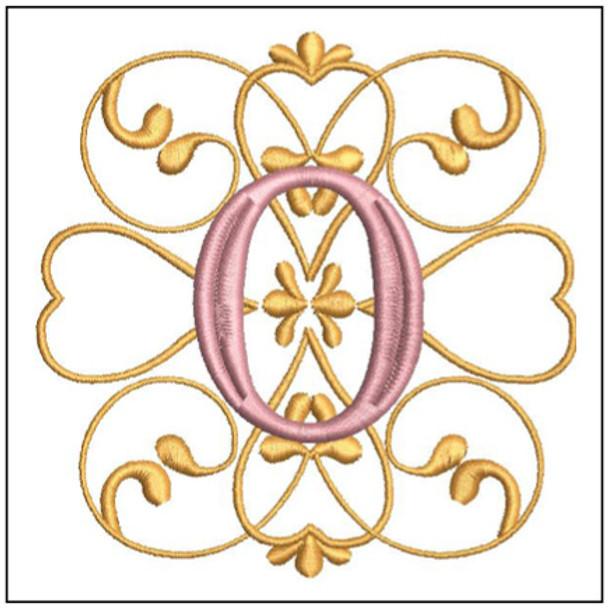 Monogram Swirls ABCs - N - Embroidery Design