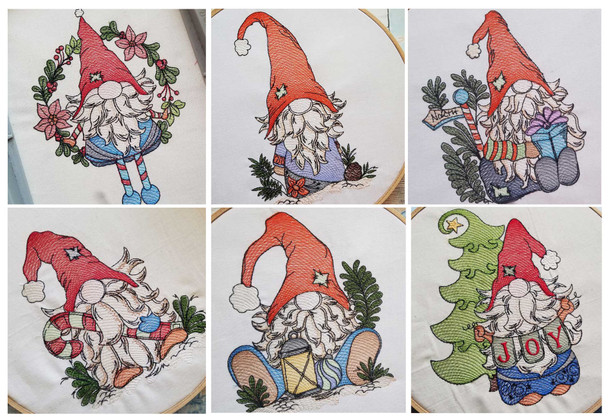 30% Off -  Gnomes Bundle - Embroidery Designs
