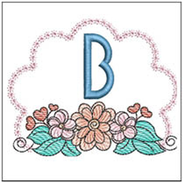 Wildflower ABCs - B - Embroidery Designs