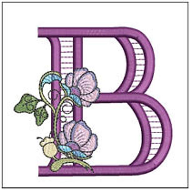 "Jacobean ABCs - B - Fits a 5x7"" Hoop - Embroidery Designs"
