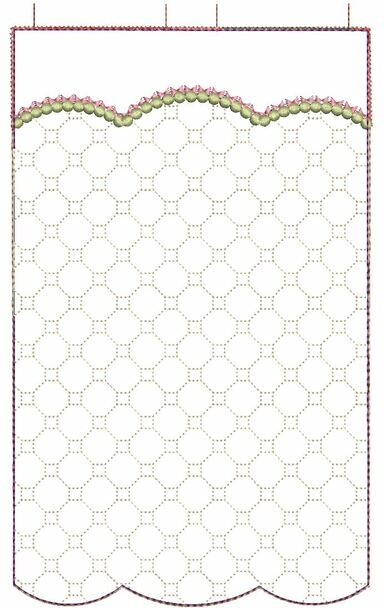 "Garden Flag (Blank) - Fits  5x7, 6x10  and 8x12"" Hoop - Instant Downloadable Machine Embroidery"
