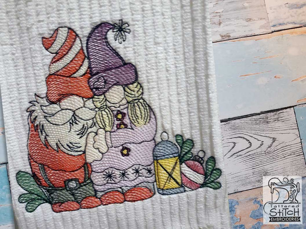"""Clause Gnomes- Fits a  4x4"""", 5x7"""" &  8x8"""" Hoop - Machine Embroidery Designs"""