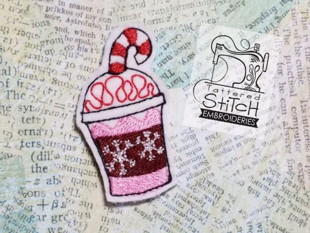 Peppermint Frappuccino Feltie - Embroidery Designs