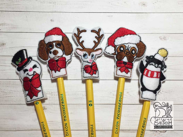 """Christmas Finger Puppets - Fits a  4x4""""  Hoop - Machine Embroidery Designs"""