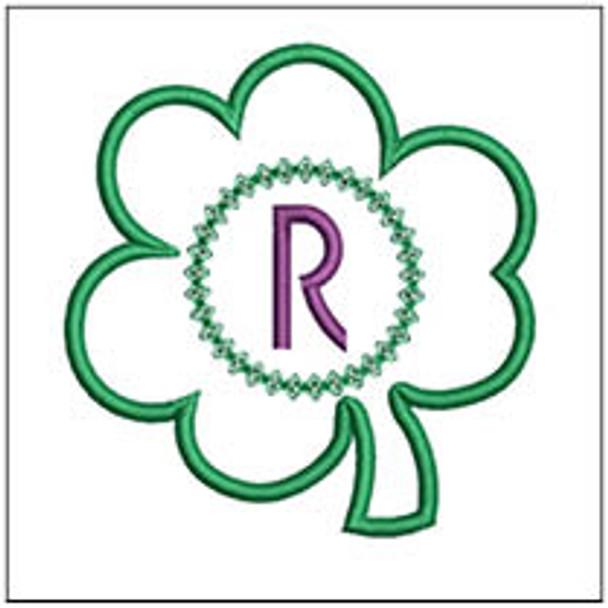 """Clover Applique ABCs - R - Fits a 4x4"""" Hoop - Machine Embroidery Designs"""