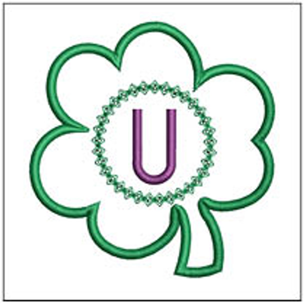 "Clover Applique ABCs - U - Fits a 4x4"" Hoop - Machine Embroidery Designs"