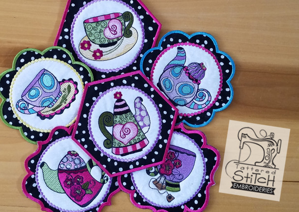 Whimsy Teacups and Teapots - Machine Embroidery Designs