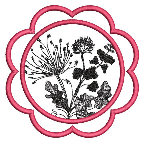 """Dandelion Coaster - Fits a 5x7""""  Hoop - Machine Embroidery Designs"""