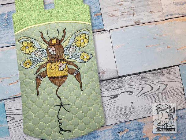 """Bee Kind Garden Flag - Fits  5x7, 6x10, 6x12""""and 8x14"""" Hoop - Machine Embroidery"""