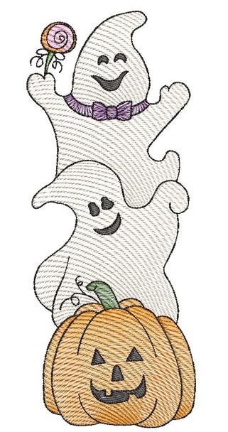 "Halloween Trio -  Fits a 4x4, 5x7 & 6x10""  Hoop - Machine Embroidery Designs"