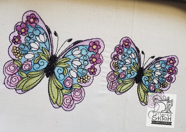 Stained Glass Butterfly - Embroidery Designs