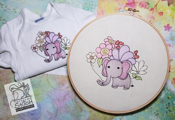 "BabyEllie- Machine Embroidery Design. 4x4 & 5x7"" hoop. Instant Download."