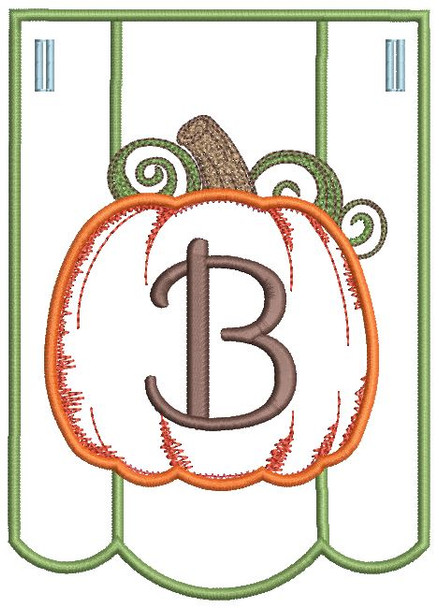 Pumpkin Bunting Alphabet Font - B - Embroidery Designs