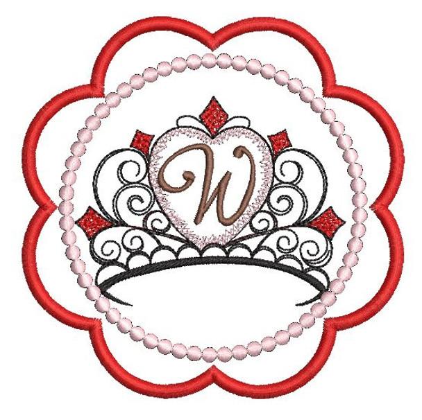 Tiara Coaster ABCs - W - Embroidery Designs