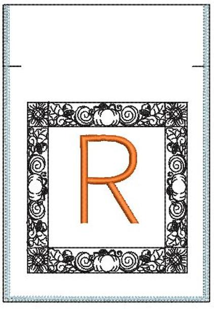 Fall Harvest Font Bag - R - Embroidery Design