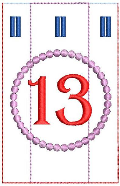 Advent Calendar #13 - Christmas - Embroidery Designs