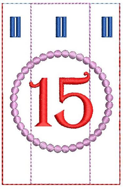 Advent Calendar #15 - Christmas - Embroidery Designs