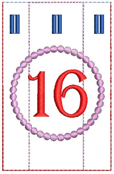 Advent Calendar #16 - Christmas - Embroidery Designs