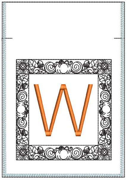 Fall Harvest Font Bag - W - Embroidery Design