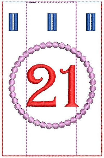 Advent Calendar #21 - Christmas - Embroidery Designs