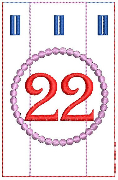 Advent Calendar #22 - Christmas - Embroidery Designs