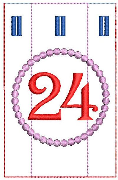 Advent Calendar #24 - Christmas - Embroidery Designs