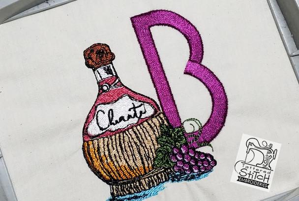 Bella Vino Font - J - Embroidery Designs
