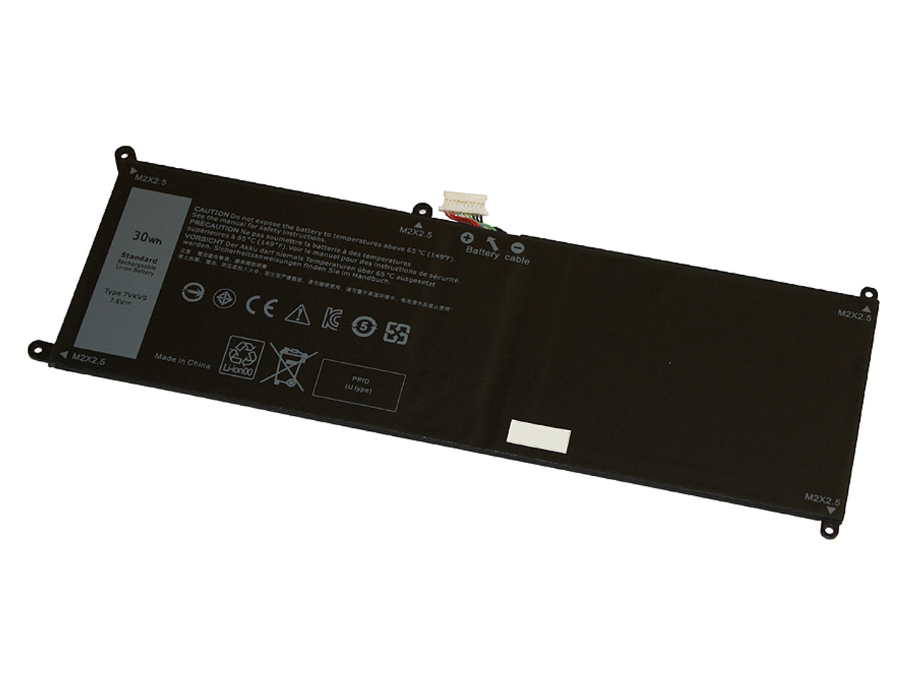 Replacement battery for DELL LATITUDE 12 7275