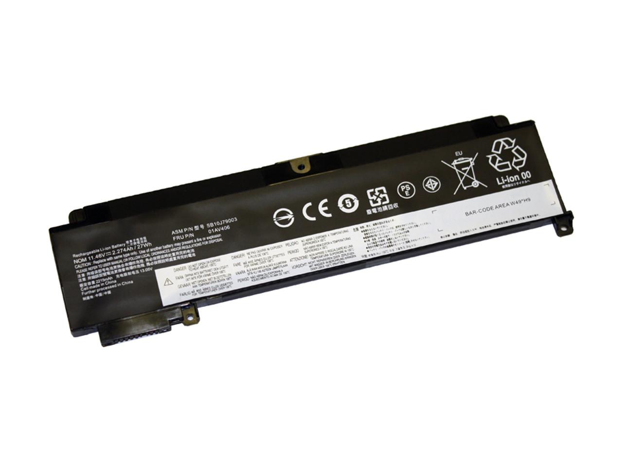 Laptop Battery for Lenovo Thinkpad T460s, T470s(3 cell, 2270 mAh)