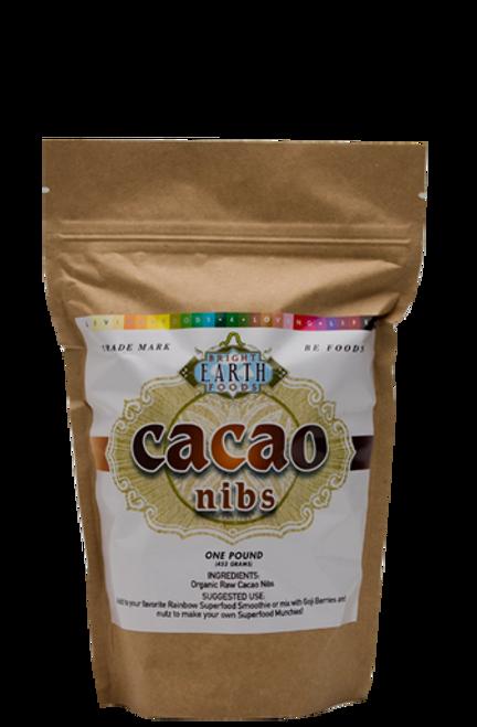 Bright Earth Foods Raw Organic Vegan Cacao Nibs - 1lb